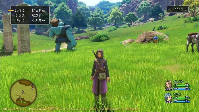 ドラゴンクエスト11、オープニング映像、PS4と3DSの実機プレイが公開。発売日は2017年