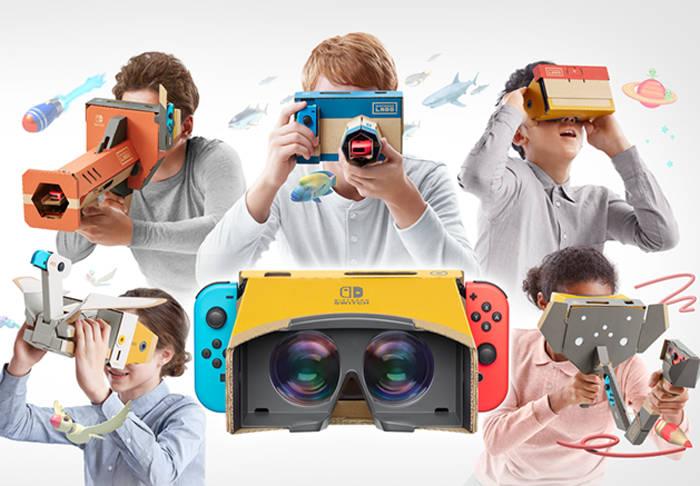 任天堂のスイッチ向けVRは、「Nintendo Labo: VR Kit」(ニンテンドー ラボ VRキット)という商品として発売