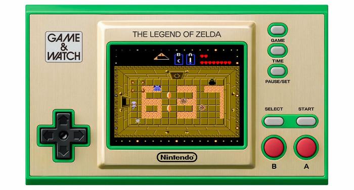 「ゲーム&ウオッチ ゼルダの伝説」は、任天堂のクラシックゲーム機「ゲーム&ウオッチ」を復活させた商品