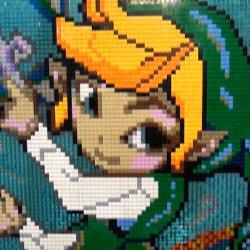 「ゼルダの伝説 トワイライトプリンセス」のハイラル城を、レゴで2年以上かけて作った海外ファン。リンクのアートも
