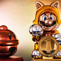 「スーパーマリオ 3Dワールド」の「まねきネコマリオ」のフィギュアが海外で