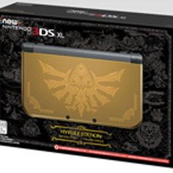 New 3DS LL ハイラル ゴールド エディションが海外で発表。ゼルダの伝説の限定版の金色の本体