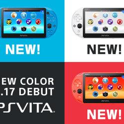 PSVITA 2000の新色、アクア・ブルー、ネオン・オレンジ、グレイシャー・ホワイト登場