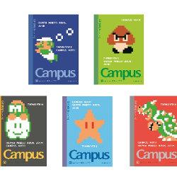 マリオ、ルイージ、クッパなどが描かれたキャンパスノートが30周年記念で発売予定
