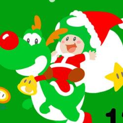 ムジュラの仮面の壁紙、ヨッシー&キノピオくん2015年クリスマスカレンダーがLINEで配布