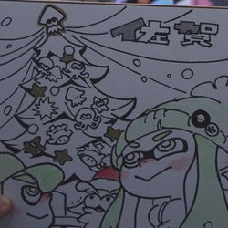 スプラトゥーン、佐賀県の文字の中に「イカ」が隠されていたと色紙で明かされる