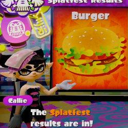 スプラトゥーン、「ハンバーガー VS ピザ」のアメリカのフェス第8回目の結果が発表