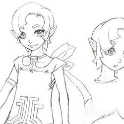 ゼルダの伝説、リンクの幼馴染「イリア」の開発過程のイラストが公開