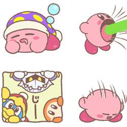 LINE「星のカービィ まんまるスタンプ」。3DSテーマ、ジオラマパーツぬりえプレゼント