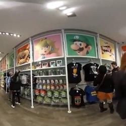 ニンテンドーNY店内を360度自由に見渡せる動画