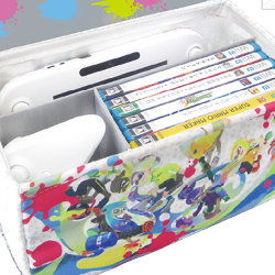 スプラトゥーン イカす キャンバスボックス。WiiUゲームパッド収納