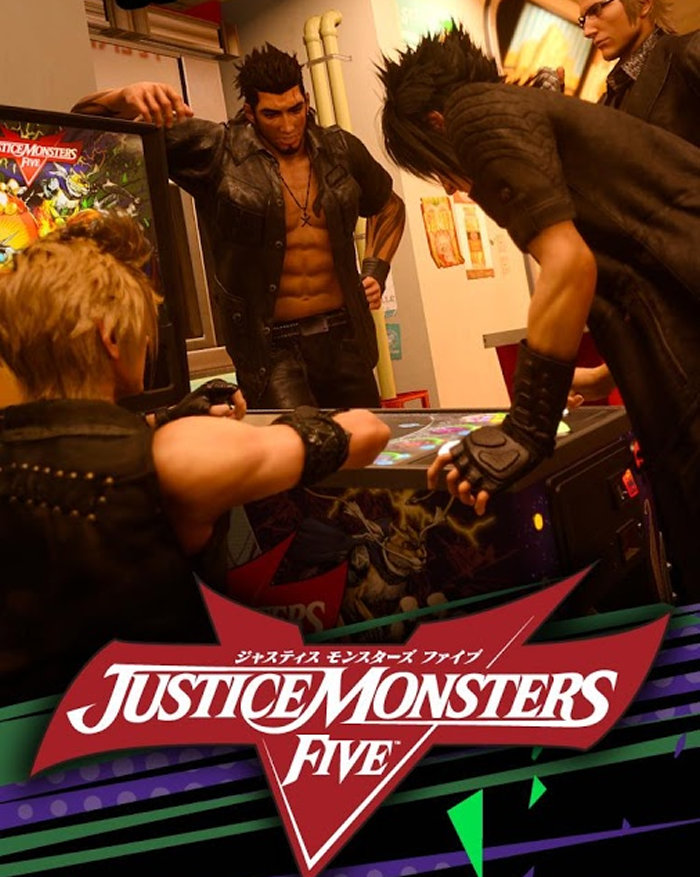 FF15のピンボールゲーム「JUSTICE MONSTERS FIVE」がスマホ