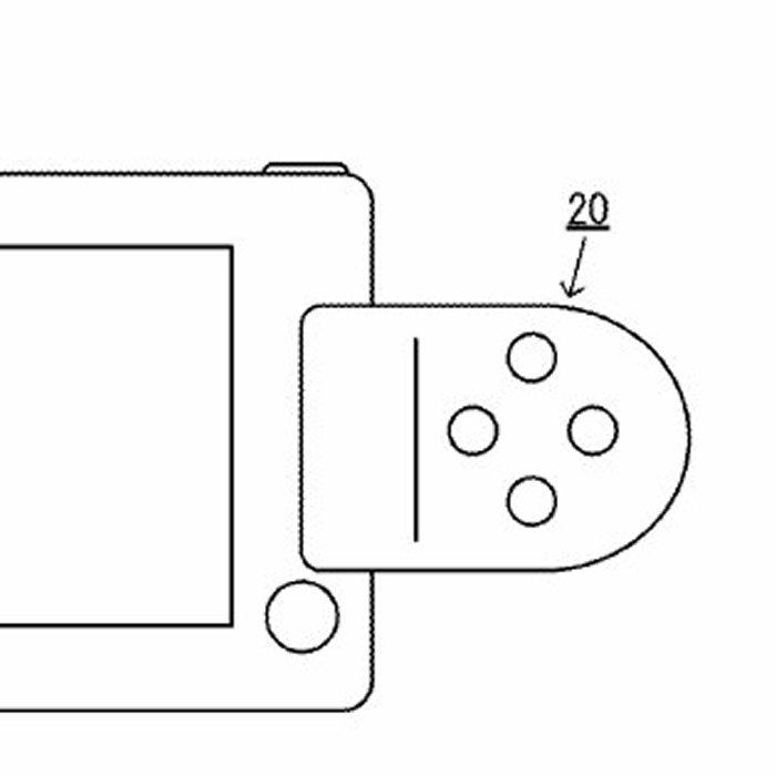任天堂NX用? スマホ型ハード+外付けコントローラー特許