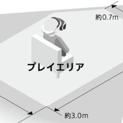 プレイステーションVRをプレイするスペース、1.9m×3.0mの5.7平方メートル