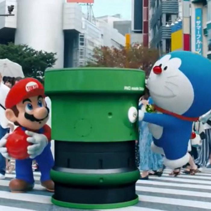 リオオリンピック閉会式、安倍マリオ、ドラえもん、ハローキティ