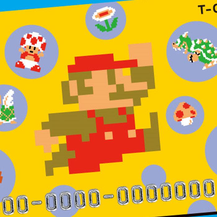 スーパーマリオのTカード。ニンテンドークラシックミニ ファミコン