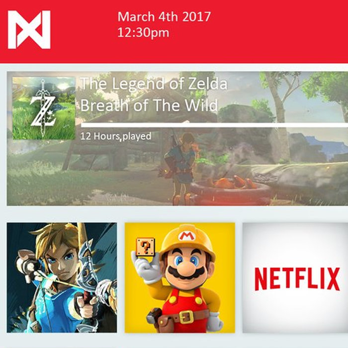 任天堂NX、インターフェイス魅力的、簡単、WiiUから学んでいる