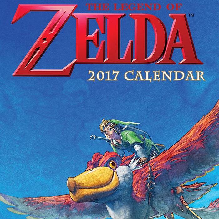 ゼルダの伝説、2017年のカレンダー。海外版