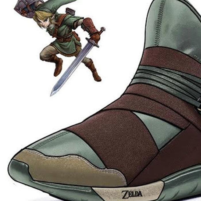 ゼルダの伝説のリンクやシークをイメージした、アディダスのシューズ