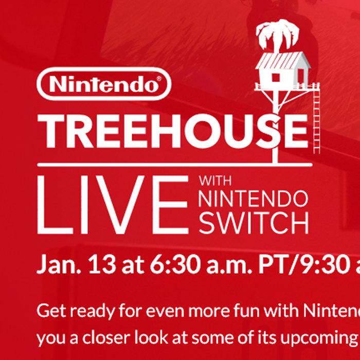 ニンテンドースイッチ、ネット中継、発表会 → TreeHouse Live