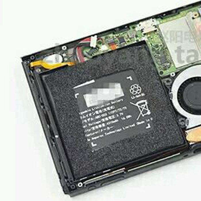 ニンテンドースイッチ、分解された画像。開発機