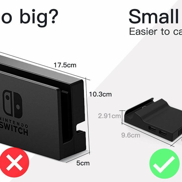 ニンテンドースイッチ、小型で携帯ドック