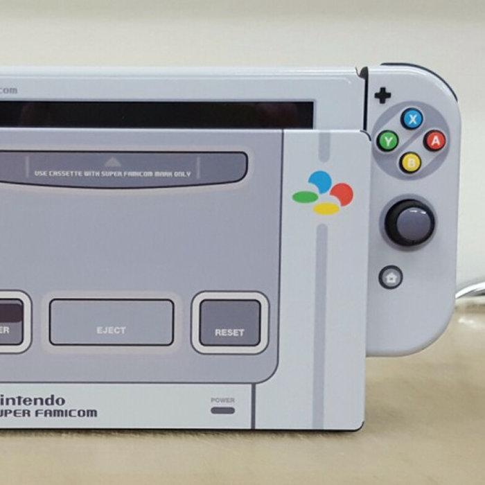 ニンテンドースイッチ、スーパーファミコンのデザイン版
