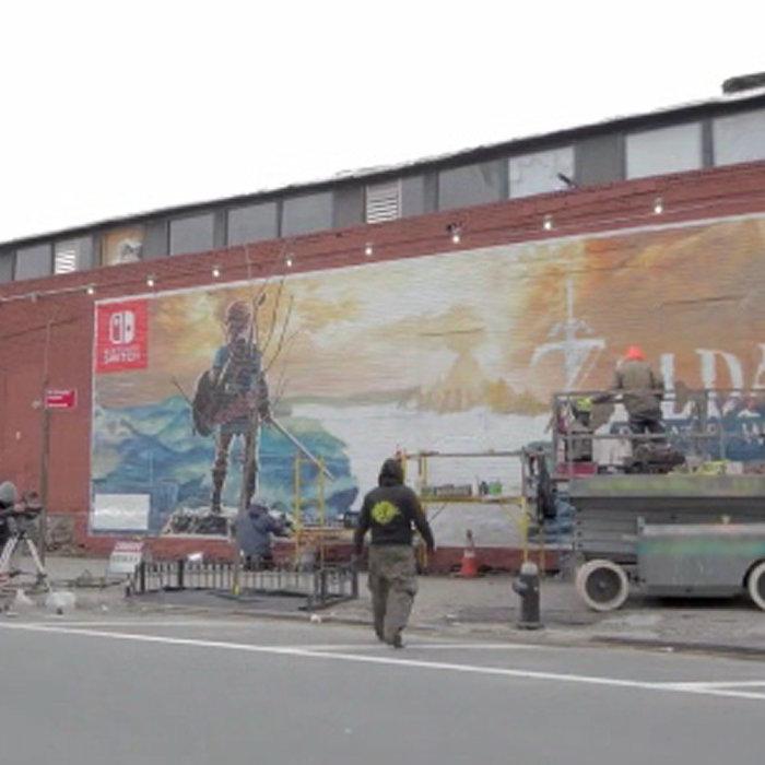 ゼルダの伝説 ブレス オブ ザ ワイルド、壁画アート制作