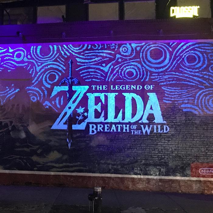 ゼルダの伝説 ブレス オブ ザ ワイルド、夜に光る看板