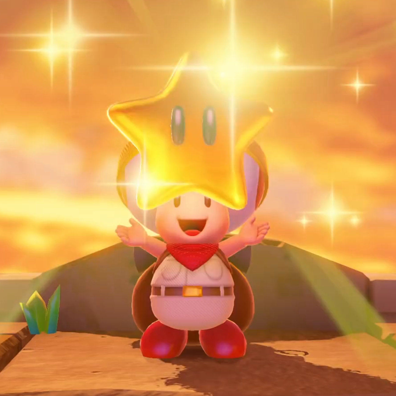 キノピオ隊長、スーパーマリオ 3Dワールドのコース