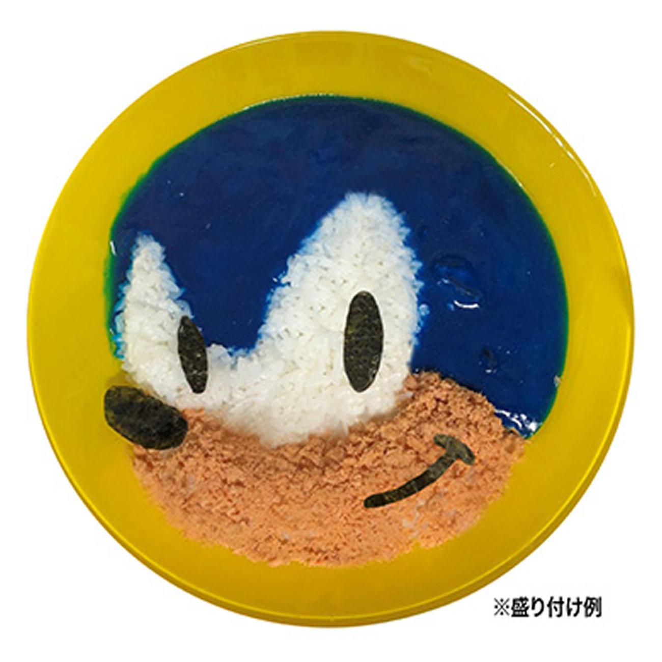 ソニックのカレー。真っ青なので盛り付け顔