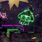 スプラトゥーン2、フェスに花火と紙吹雪。1周年記念のお祝いに