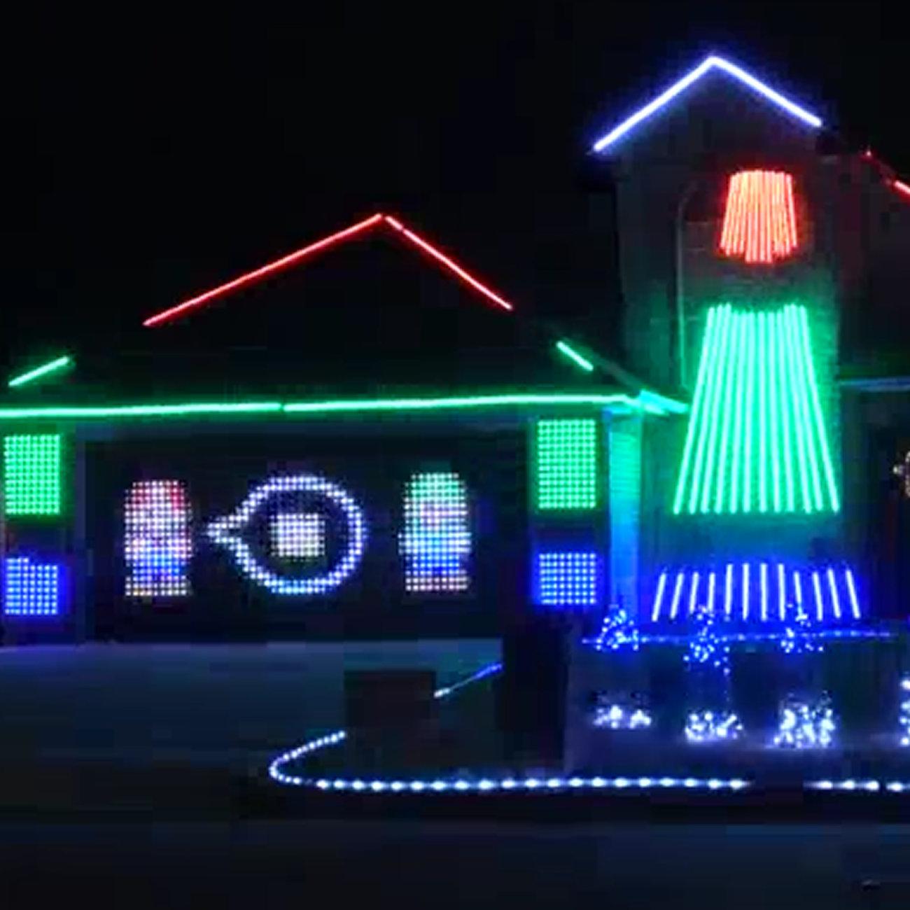 マリオをテーマにしたクリスマス イルミネーション