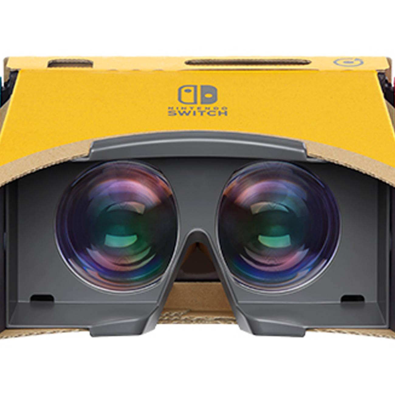 任天堂、VR。レンズ付きゴーグル手に操作する仕様