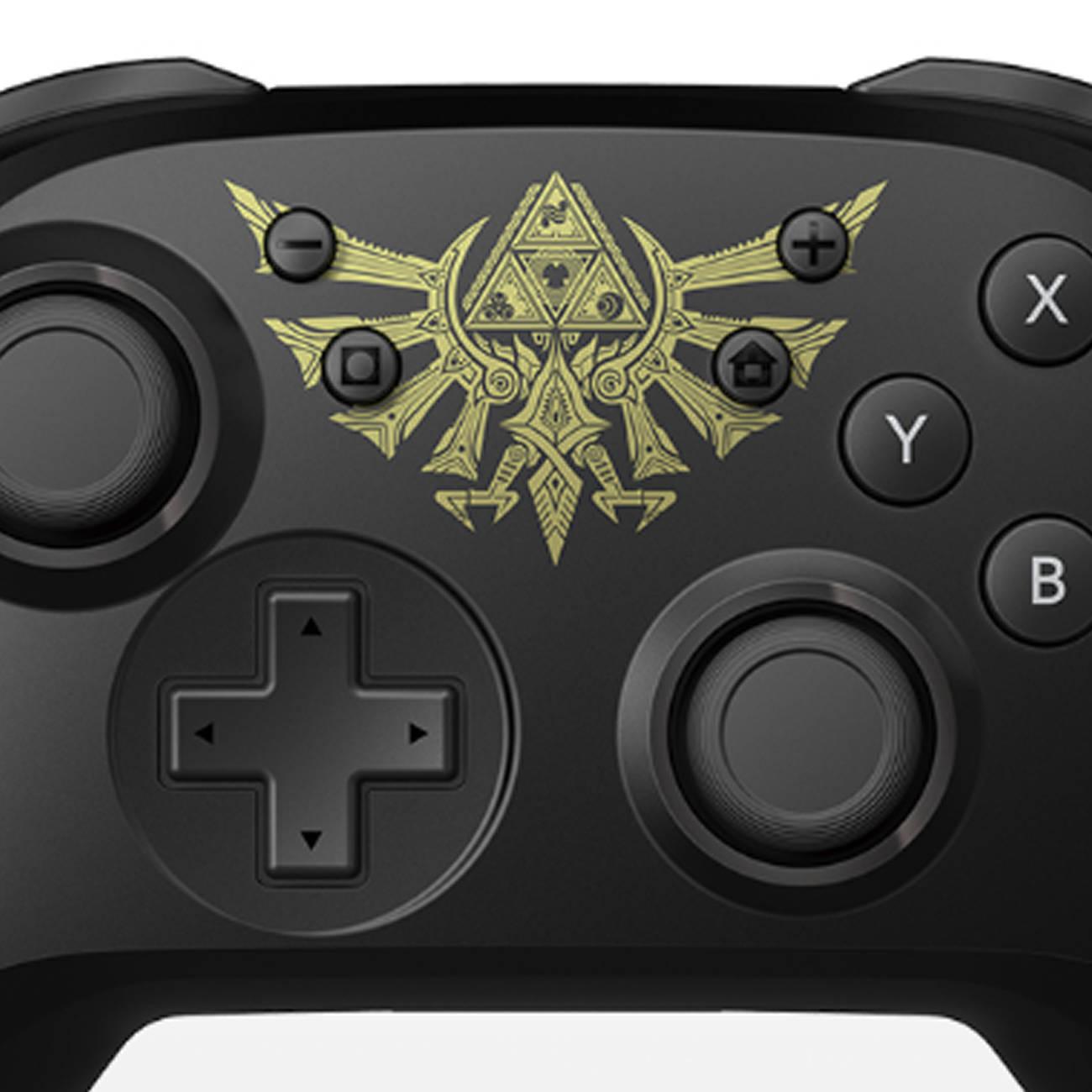 ゼルダの伝説、ハイラル紋章デザインのスイッチ用コントローラー