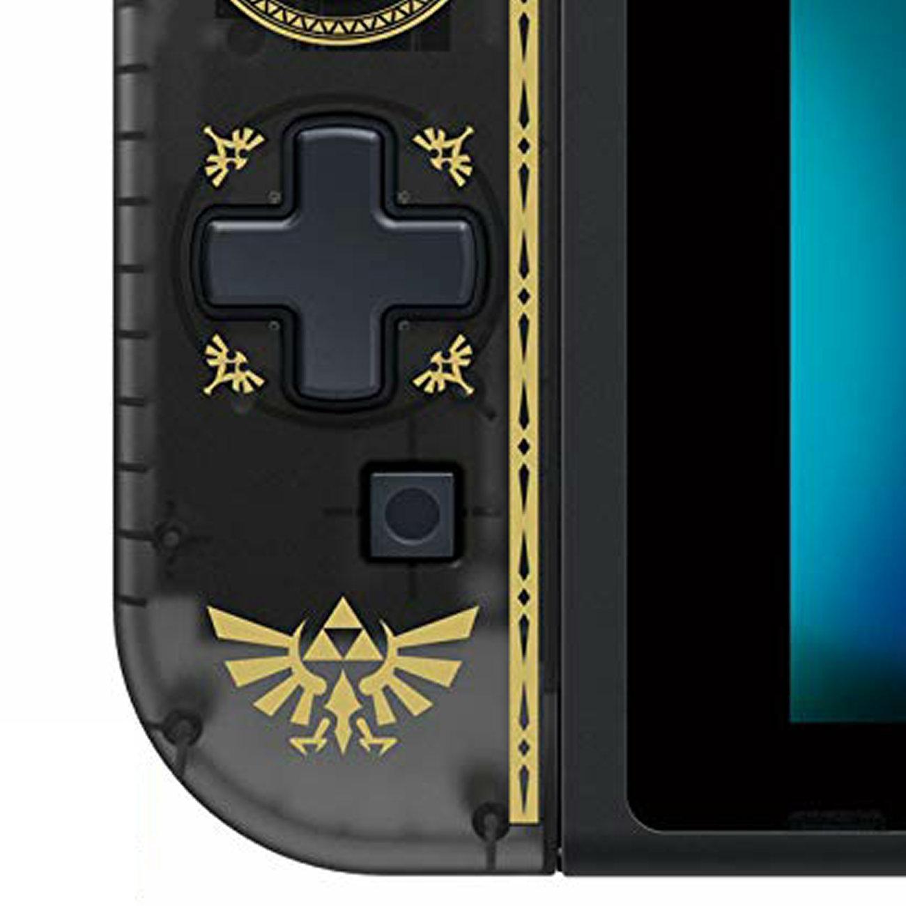 ゼルダの伝説デザインの十字キーコントローラー。マリオやピカチュウ