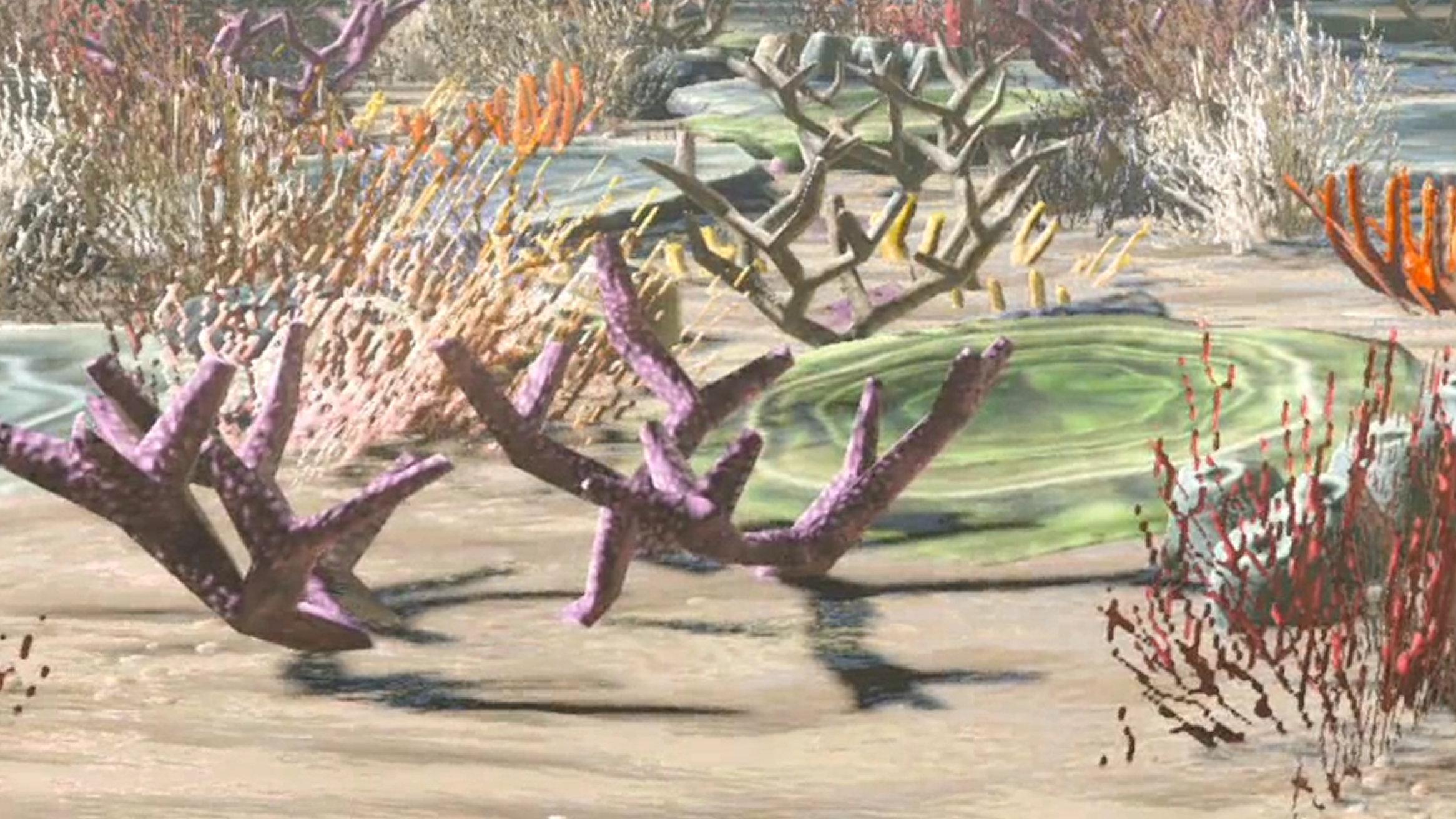 ゼルダの伝説 ブレス オブ ザ ワイルド、海の中のサンゴが綺麗