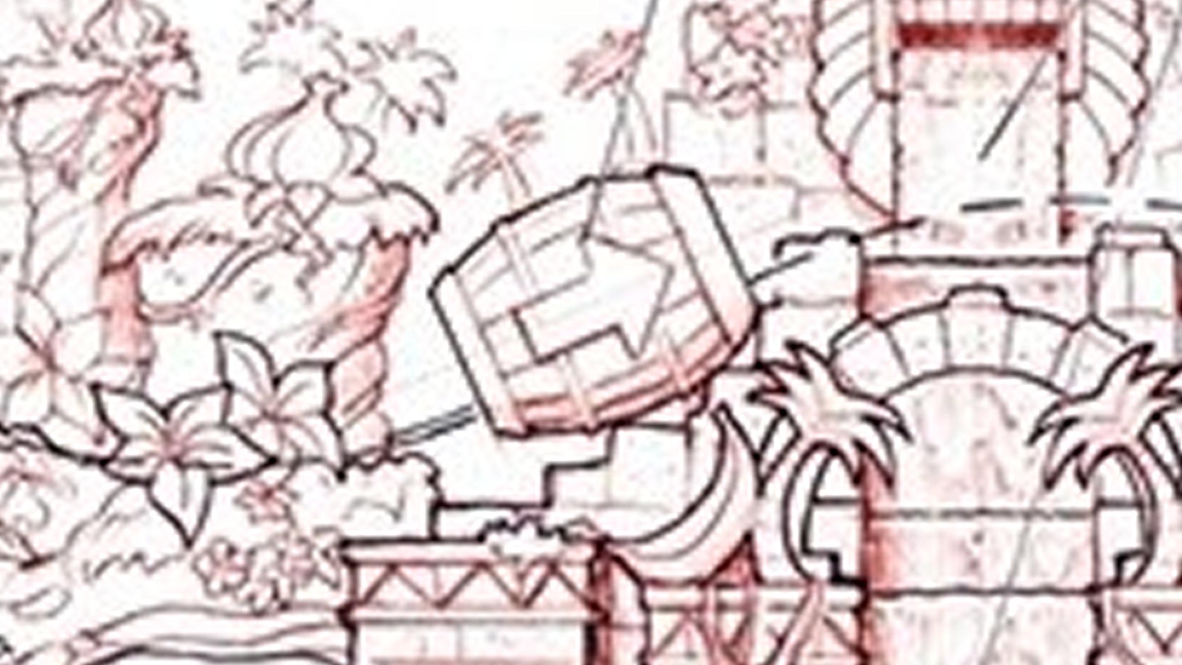 任天堂×ユニバーサル・オーランド、タル大砲ドンキーコングのエリア
