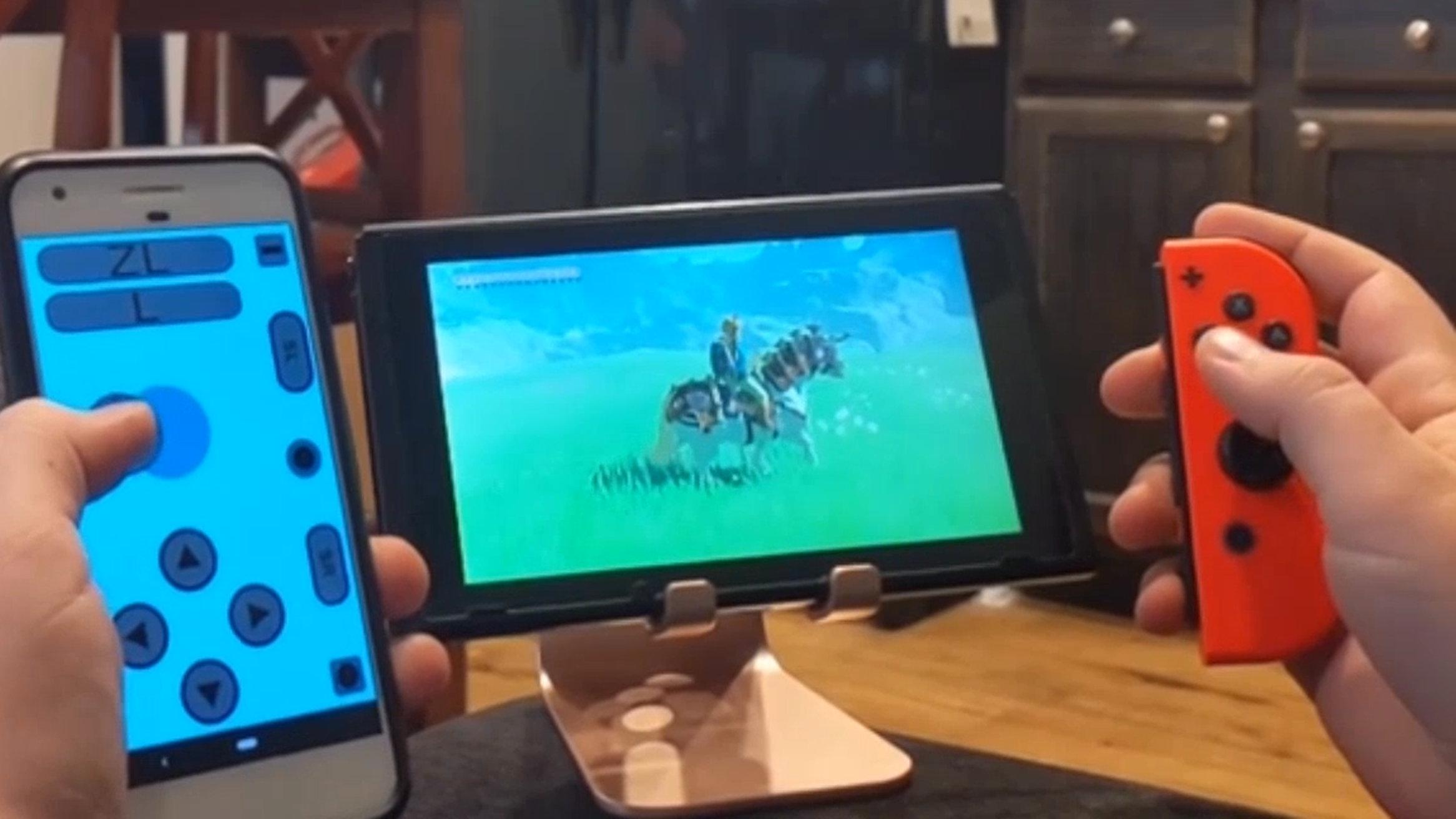 ニンテンドースイッチ、Androidスマホをジョイコンのアプリ