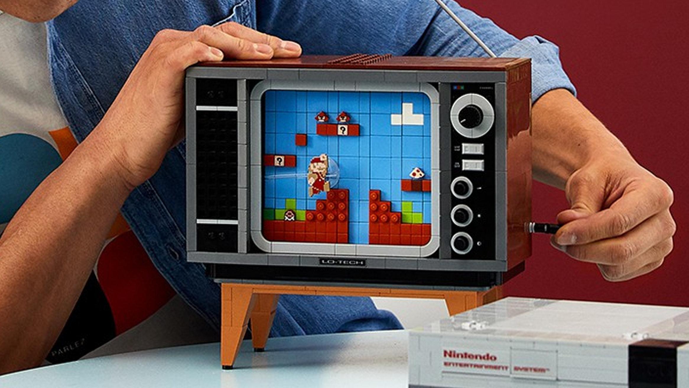 ファミコンのスーパーマリオを再現するレゴのセット