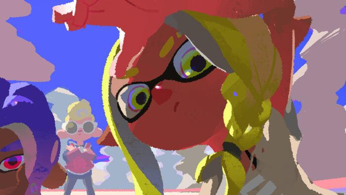 スプラトゥーン3、新しい眉毛や弓のブキが暑中見舞いイラストに登場