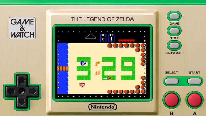 ゼルダの伝説 ゲーム&ウオッチ、時計機能が改善。給電なしで常時表示が可能に